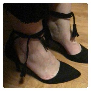 Chinese laundry wrap ankle kitten heels